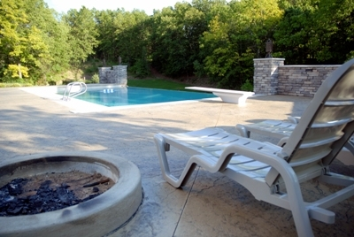 Stamped Concrete Kalamazoo Mi Stamped Concrete Patio With